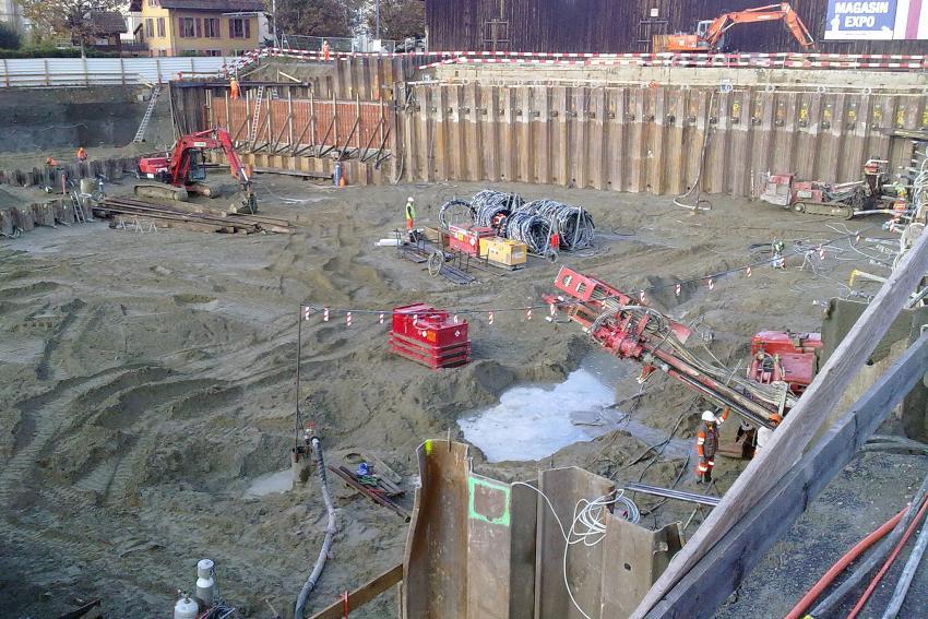 Construction du bâtiment du Centre d'Enseignement de l'Ouest Lausannois (CEOL)
